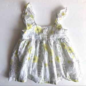Gap Baby White Ruffle Floral Girl Dress 18-24 mos